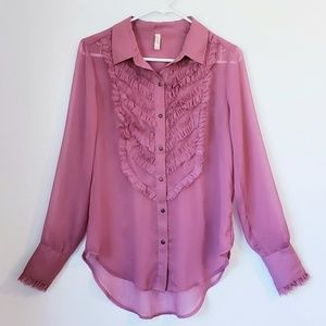 Free People button down shirt size S